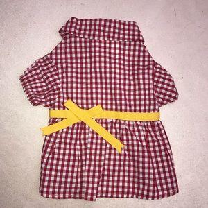 Dog Pet Dress Martha Stewart Red Gingham XS Yellow